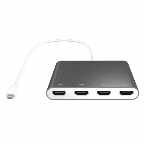 C3-A8624 USB-C to 4-Port HDMI Multi-Monitor Adapter 3